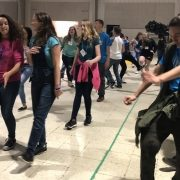 Large Group of Teenagers Dancing at a Substance Free Youth Event In Buncombe County